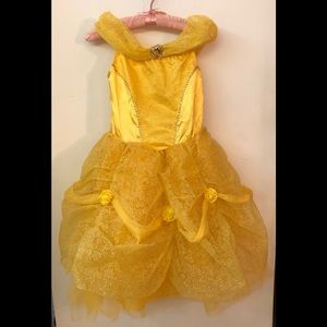 Disney Yellow Belle Dress - size 7-8